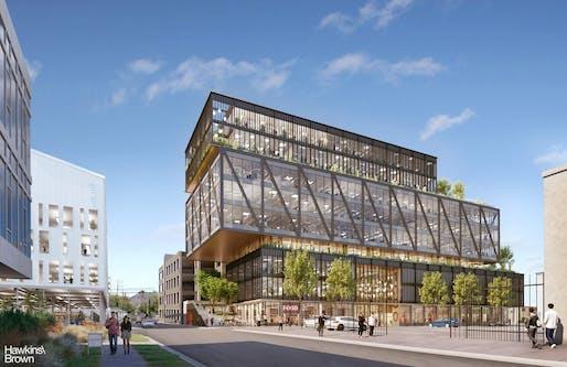 The 1000 Seward development by Hawkins\Brown Architects. Image courtesy of Hawkins\Brown Architects.