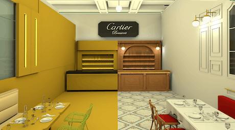cartier's restaurant in Bogotá