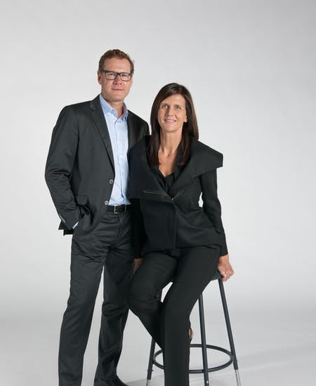 Gustavo Berenblum and Claudia Busch. Image courtesy of Berenblum Busch Architects