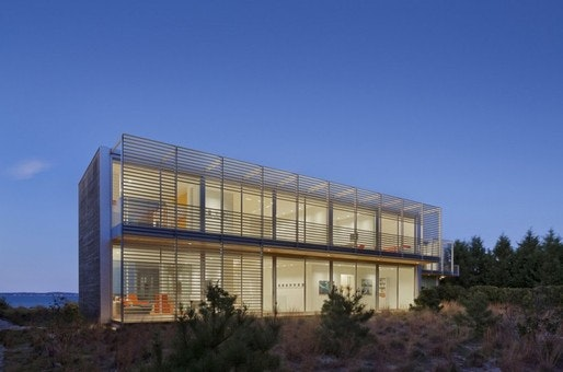 This Residence Located On The Long Island Coastline Is Designed To Capture  And Frame Spectacular Water Views. The Design Also Maximizes Transparency  Between ...