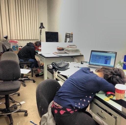 Architecture Studio Students when the pressure is on, dedicated architecture students show how