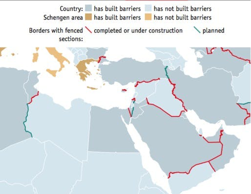 A world divided mapping border fences globally news archinect related coverage gumiabroncs Choice Image