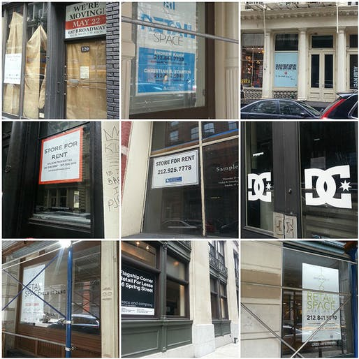 VACANT NEW YORK Maps Manhattan's Shuttered Storefronts