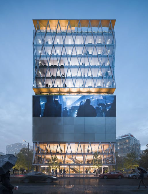 Satyam Towers. All imagery courtesy of White Red Architects.