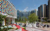 Henning Larson builds a colorfully sustainable school in urban Hong Kong