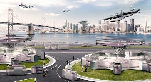 Hyundai's vision for an urban air mobility network. Image: Hyundai