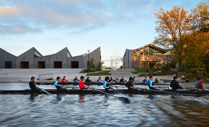 WMS Boathouse at Clark Park. Photo by Steve Hall, © Hedrich Blessing.
