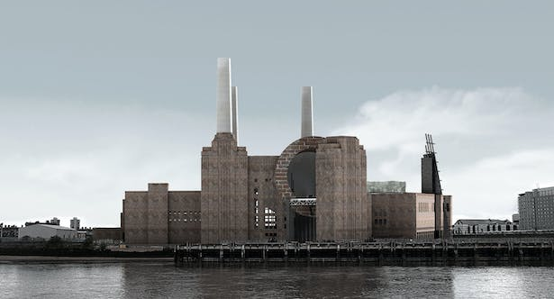 North View from Thames River (Render)