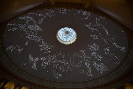The University of Virginia's Rotunda has been temporarily transformed into a planetarium. Photo: Dan Addison, via University of Virginia.