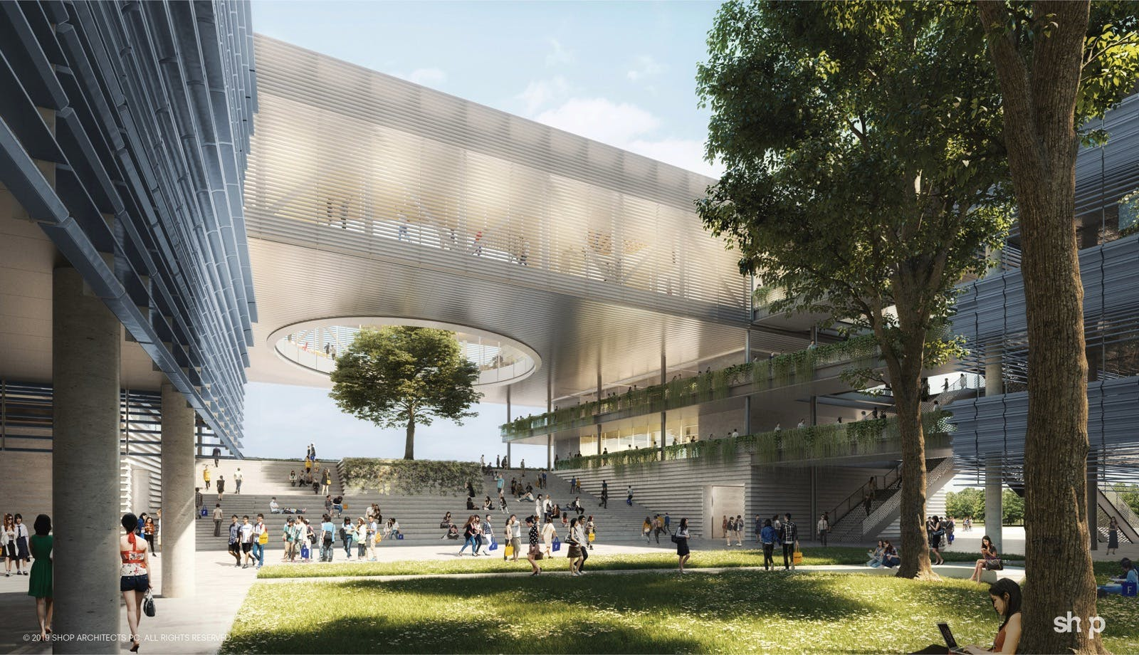 First Phase Of Shop Architects Fulbright University Vietnam Masterplan Breaks Ground News Archinect