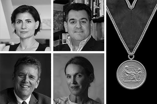 The 2021 RAIC Honorary Fellows (clockwise from top left): Amale Andraos, Mouzhan Majidi, Tatiana Bilbao, and Thomas Vonier. Image courtesy of RAIC.