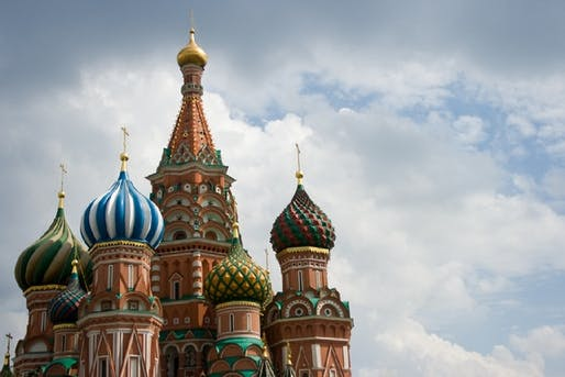 Saint Basil's Cathedral in Moscow (via theatlantic.com; Photo: Katie Brady/Flickr)
