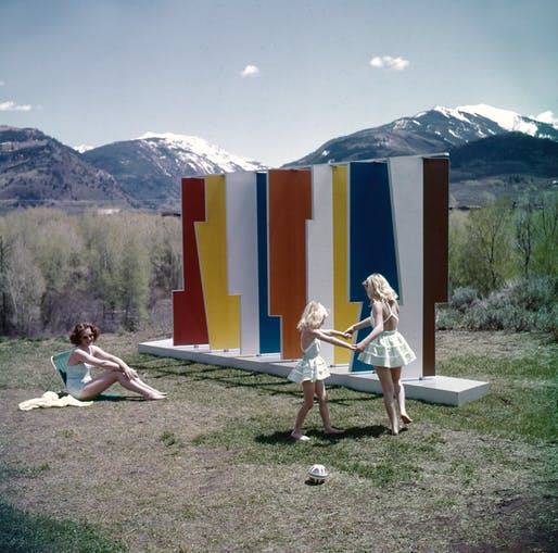 VIew of Herbert Bayer's Kaleidoscreen installation from 1957. Image courtesy of the Herbert Bayer Collection and Archive, Denver Art Museum.