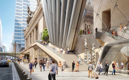 42nd Street looking west. Rendering by SOM