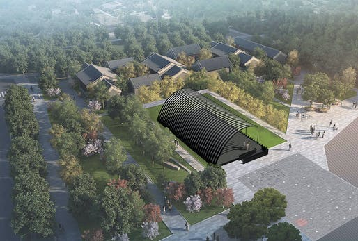 Render of the Serpentine Pavilion Beijing 2018, Design by Jiakun Architects, © Jiakun Architects