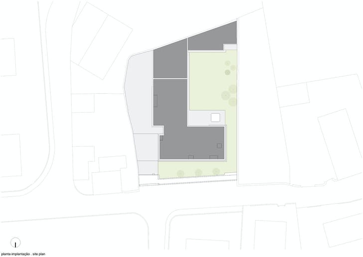 Site plan. Image: Arquitectos Matos