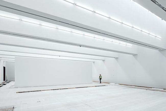 The Sigg Galleries, M+ building Photo: Kevin Mak © Kevin Mak Courtesy of Herzog & de Meuron