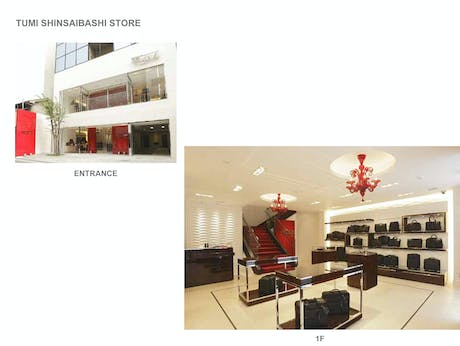 Typical Tumi stores, development from concept for architectural work to fixture developement. all fixture were manufactured in China and shipped to site globally.