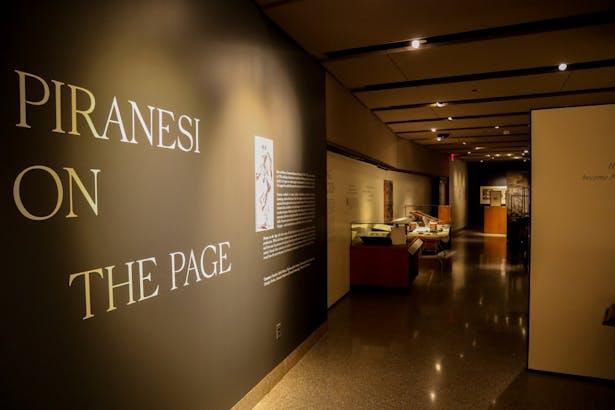 Piranesi on the Page at the Milberg Gallery, Firestone Library, Princeton University. Photo credit: Brandon Johnson