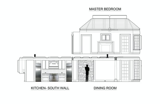 SECTION THROUGH KITCHE/DINING & MASTER