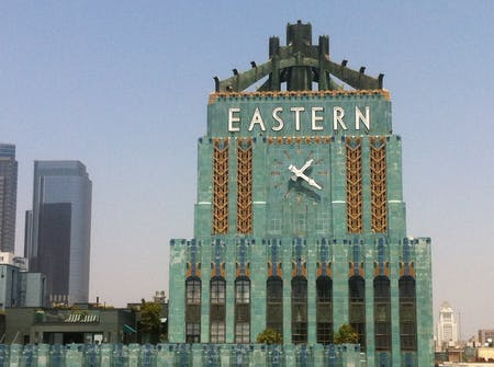 The Eastern Columbia Building first achieved landmark status in 1985. Image courtesy of Los Angeles Conservancy.