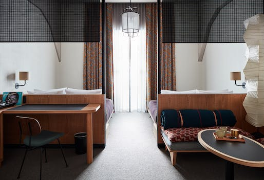 A guest room in Ace Hotel Kyoto. Photo: Stephen Kent Johnson.