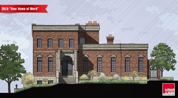 St. Louis based Schaub+Srote Architects awarded with New Home of Merit from Kirkwood Missouri Landmarks Commission.