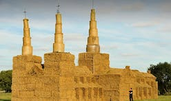 Scale replica of Lichfield Cathedral made by farmer out of straw