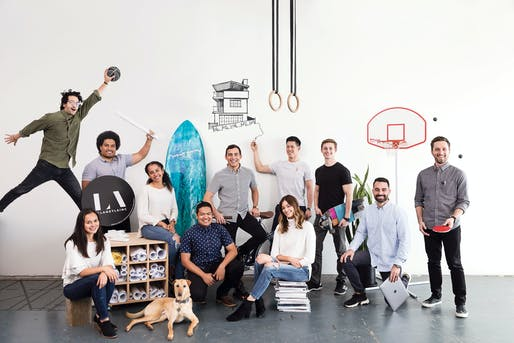 "Team photo of <a href=""https://archinect.com/laneyla"">Laney LA</a>, an architecture firm doing a great job at expressing their culture online"