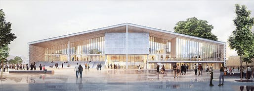 Rendering of the planned Museum der Moderne Berlin. Image: Herzog & de Meuron.