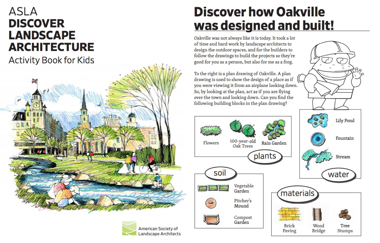 American Society Of Landscape Architects Creates Activity Book To