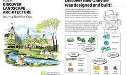 American Society of Landscape Architects creates activity book to help kids learn about landscape architecture