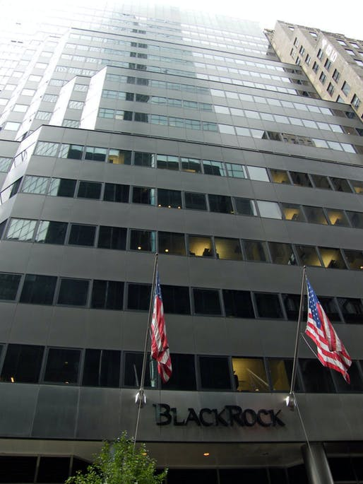 Photo of BlackRock's Manhattan Headquarters in the Park Avenue Plaza tower. Image courtesy of Wikimedia user Americasroof.