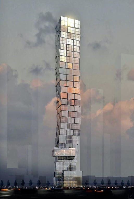 A proposed tower for the 450 Eleventh Avenue site in Hudson Yards. Image courtesy of Marx Development Group.