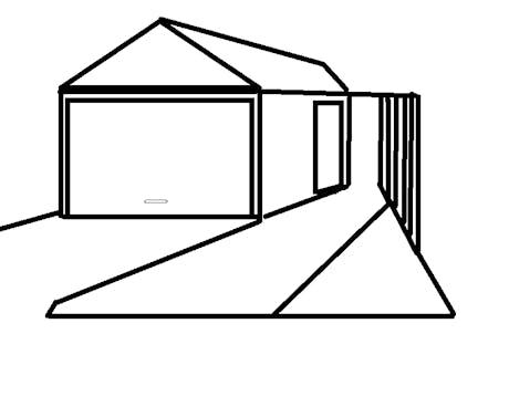 garage alternative space savings unit with drive-way