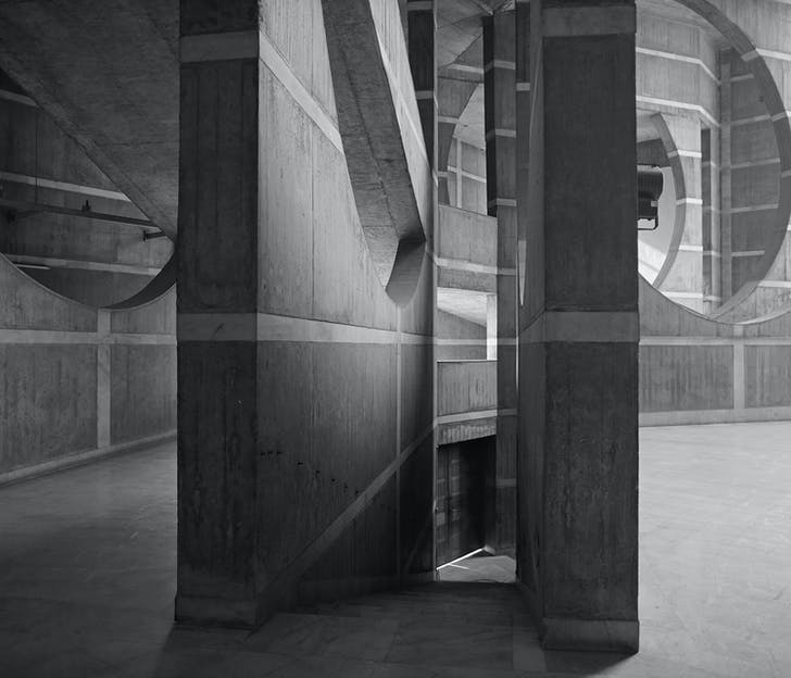 National Assembly Building of Bangladesh by Louis Kahn. Courtesy of Scott Benedict.