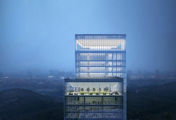 Rendering – Lighting Design on Top of the tower
