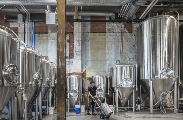 Production area, Junction Craft Brewing (Photo: Steven Evans Photography)