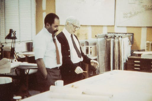 Henry Wilcots and Louis Kahn in 1970. Photo via philly.com.