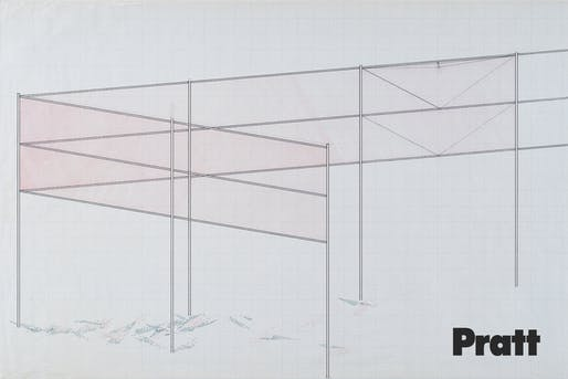 Robert Irwin, Two Running Violet V Forms, 1982; Ink and pencil; 24 x 46 in.; Stuart Collection Records, Special Collections & Archives, UC San Diego; Photographer: Philipp Scholz Ritterman; ©2018 Robert Iwin/Artists Rights Society (ARS), New York.