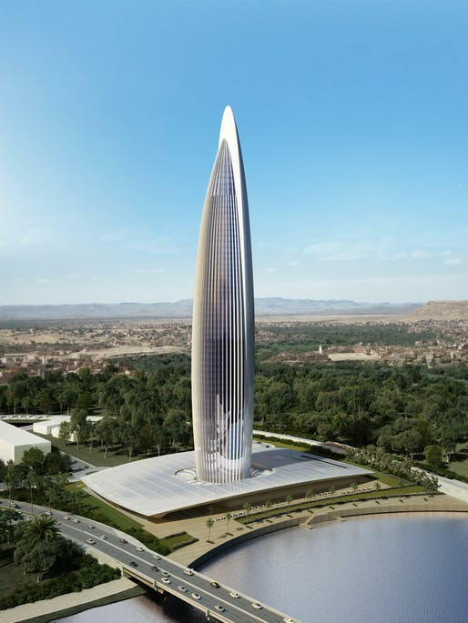 Aerial view of the The Bank of Africa Tower. Image: BESIX.