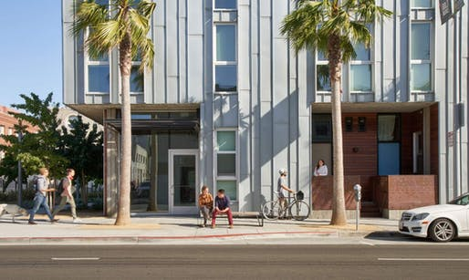 The David Baker Architects-designed 855 Brannan apartment complex. All images courtesy of Bruce Damonte.