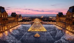 For its 30th birthday, Artist JR creates a large-scale optical illusion at the Louvre Pyramid