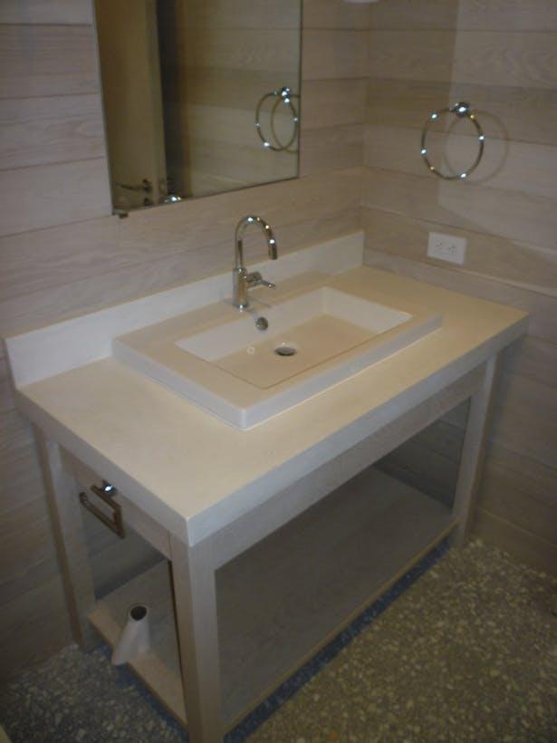 Main house waterproof plaster vanity counter