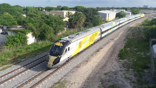 Brightline high-speed trains could be shutteling passengers between Las Vegas and Southern California as early as 2023. Photo: BBT609/Flickr