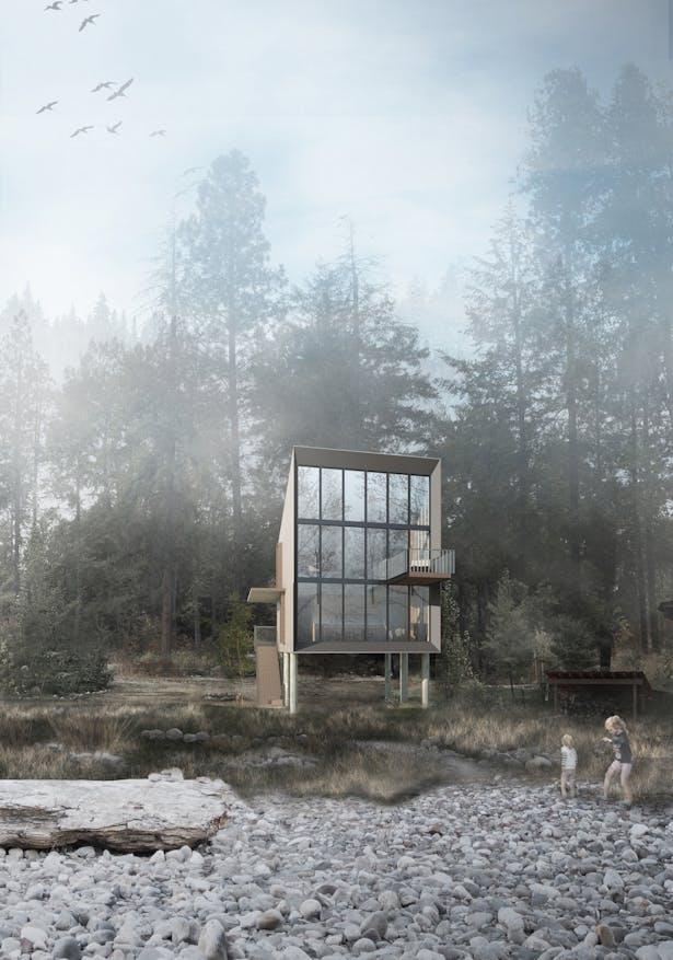 Wenatchee River Cabin (Rendering by Wittman Estes)