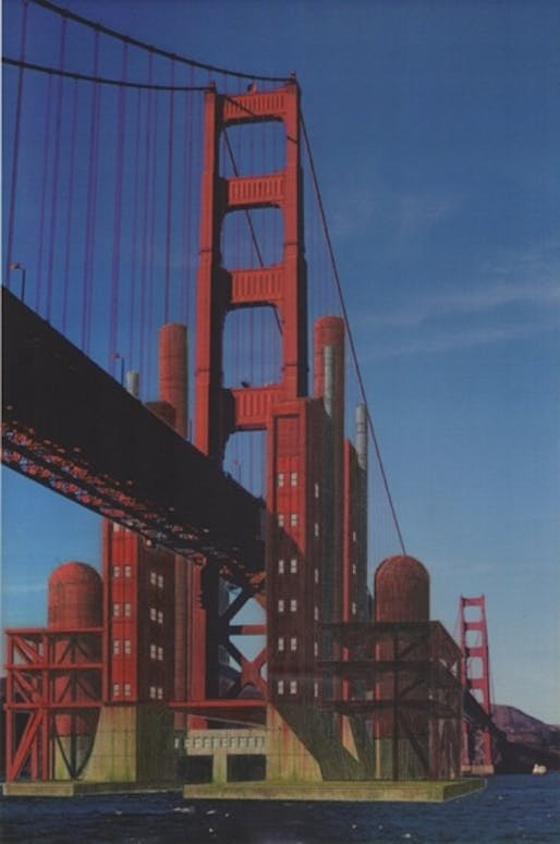 Marc L'Italien's Golden Gate Tidal Power & Desalination Station (1995-1999). Courtesy of Architizer.