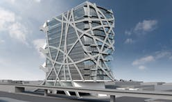 Eric Owen Moss-designed (W)RAPPER: tower construction goes vertical