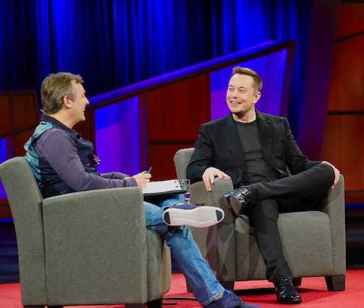 Elon Musk and Chris Anderson at TED 2017