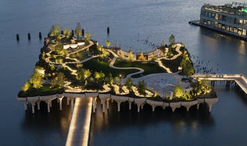Heatherwick's $260 million elevated river park 'Little Island' opens in NYC